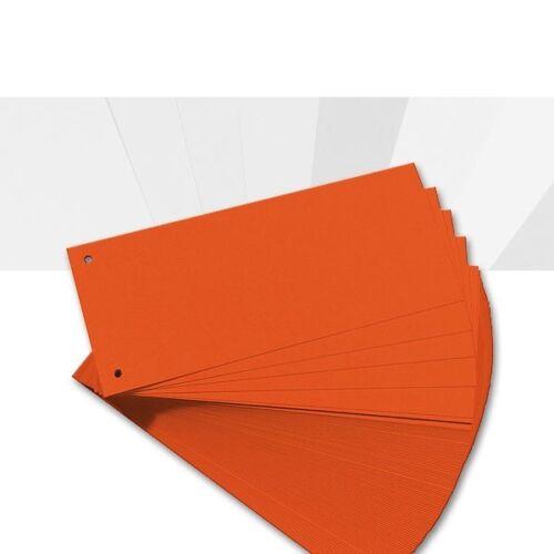 orange aus 190g//m² Karton Herlitz 100er Pack Trennstreifen 0,02€//Stück