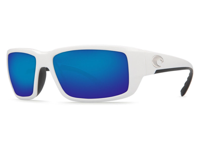 19ea7e8eb6 Costa Del Mar Fantail 400G Polarized Sunglasses White Blue Mirror 400G Glass