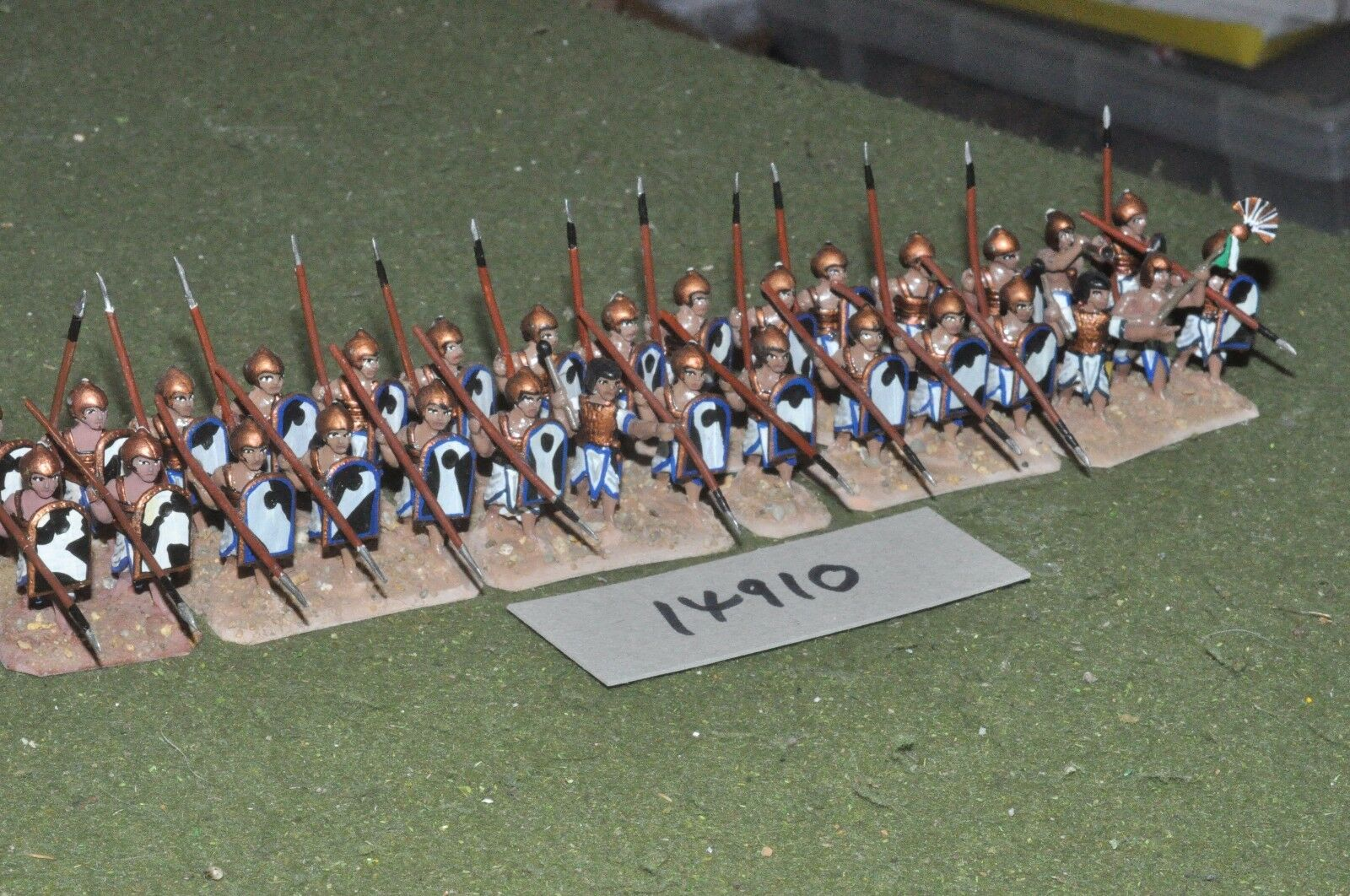 25mm biblical   egyptian - spearmen 30 figures - inf (14910)