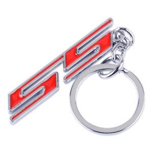 Chrome Black Super Sport SS Key Chain Fob Ring Keychain For Chevrolet Chevy,etc