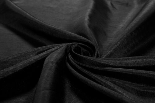 Indian Soft Silk Solid Sewing Black Fabric Dress Apparels Craft Making By Yard
