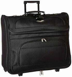 Travel-Suitcase-Wheels-Rolling-Folding-Garment-Bag-Luggage-Carry-Clothing-Suits