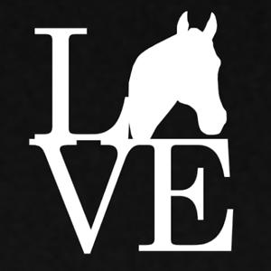Love Horse Ranch Farm Animal Decal Vinyl Die Cut Sticker Window Funny