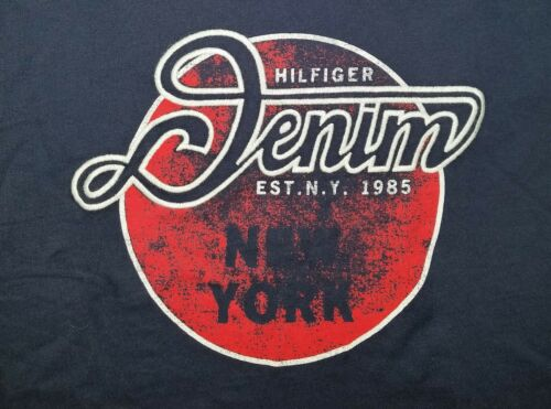 Details about  /MEN/'S TOMMY HILFIGER DENIM NEW YORK DEAN CIRCLE GRAPHIC T-SHIRT TEE NAVY BLUE XS