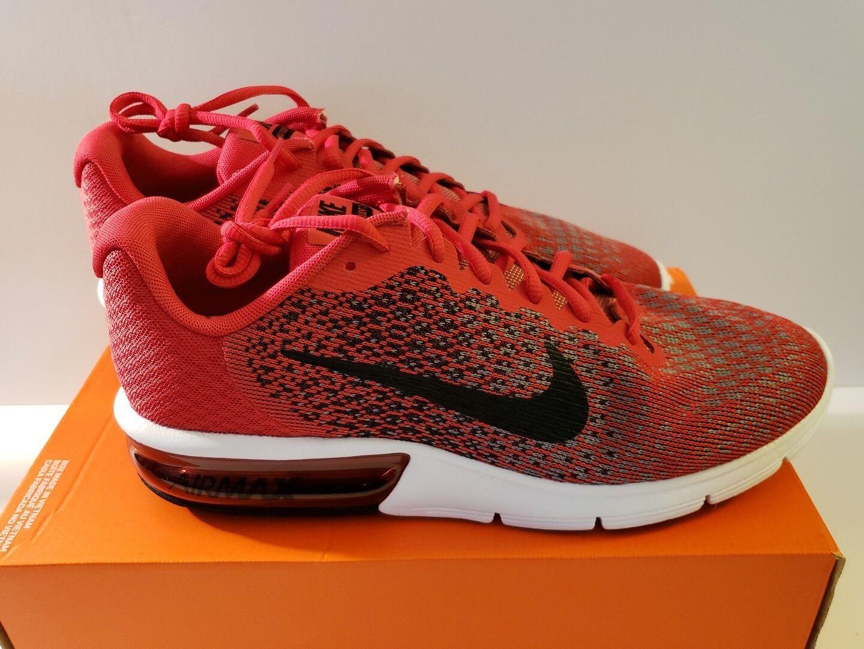 Nike air max successive 2 sz rosso - nero bianco 852461-600 scarpe nuove!
