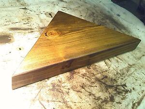 CORNER-SHELF-Vintage-style-Solid-Chunky-Wood-DARK-OAK-LARGE
