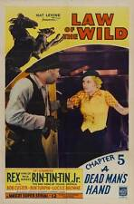 THE LAW OF THE WILD Movie POSTER 27x40 D Rex Rin Tin Tin Jr. Ben Turpin Richard