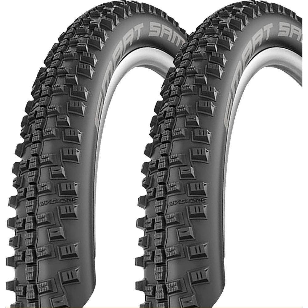 2x Schwalbe Schwalbe Schwalbe Reifen SMART SAM Performance Draht Addix 26x2,125 57-559mm schwarz bb56c8