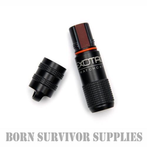 Exotac Matchcap-Imperméable Allumettes CASE Survival Match Boîte De Conservation Amadou pot