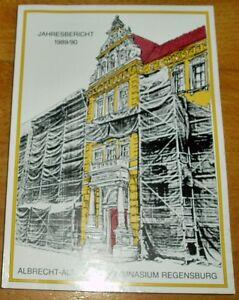 Regensburg-1989-90-alter-Jahresbericht-Albrecht-Altdorfer-Gymnasium-Geschenk-Abi