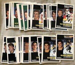 1991-92 Pinnacle NHL 46 card lot Bure Gretzky Hull Jagr Lemieux Roy Sakic Sundin