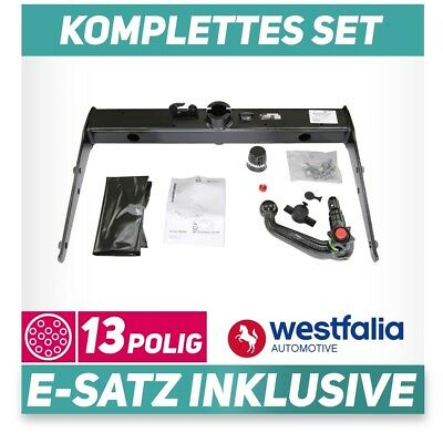 Im Set mit 13-poligem fahrzeugspezifischem Westfalia Elektrosatz AHK f/ür VW Transporter T5 Kasten /& Kombi Westfalia starre Anh/ängerkupplung