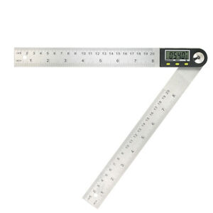 Portable-Digital-Protractor-Angle-Finder-0-200mm-8-034-Stainless-Steel-Ruler-Q2N5