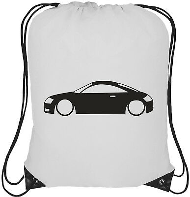Rucksack Bag Audi TT MK1 Side On Logo 13L Drawstring Tote Backpack