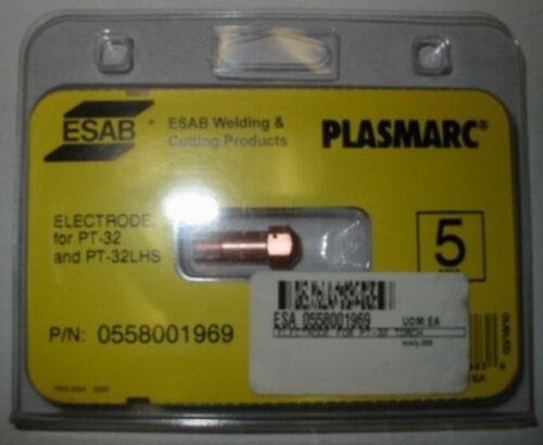 QTY 5 ESAB 0558001969 ELECTRODE for PT-32//32LHS