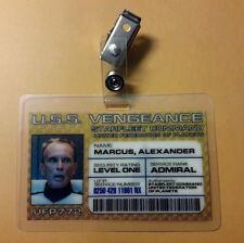 Star Trek Enterprise ID Badge-Starfleet Command Admiral Alexander Marcus cosplay