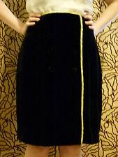 Emporio Armani black silk velvet pencil skirt skirt IT size 44 UK size 12