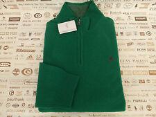 Original Hackett Lw Tuck Jumper Verde mitad cremallera Cordero Lana Top BNWT RRP £ 195