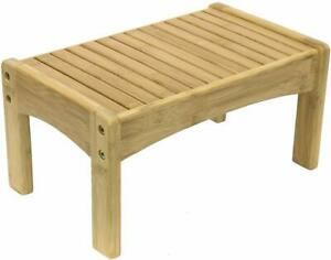 Wooden Foot Stool Child Kids Bed Step Wood Kitchen Small