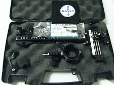 """4"""" DAVIS TARGET SIGHT- Double knob mount -black with black knobs-scope .010 red"""