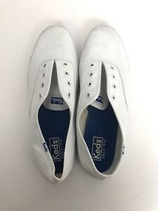 Keds-Champion-White-Canvas-Lace-Up-Sneakers-Shoes-WF34000-Women-s-Size-9