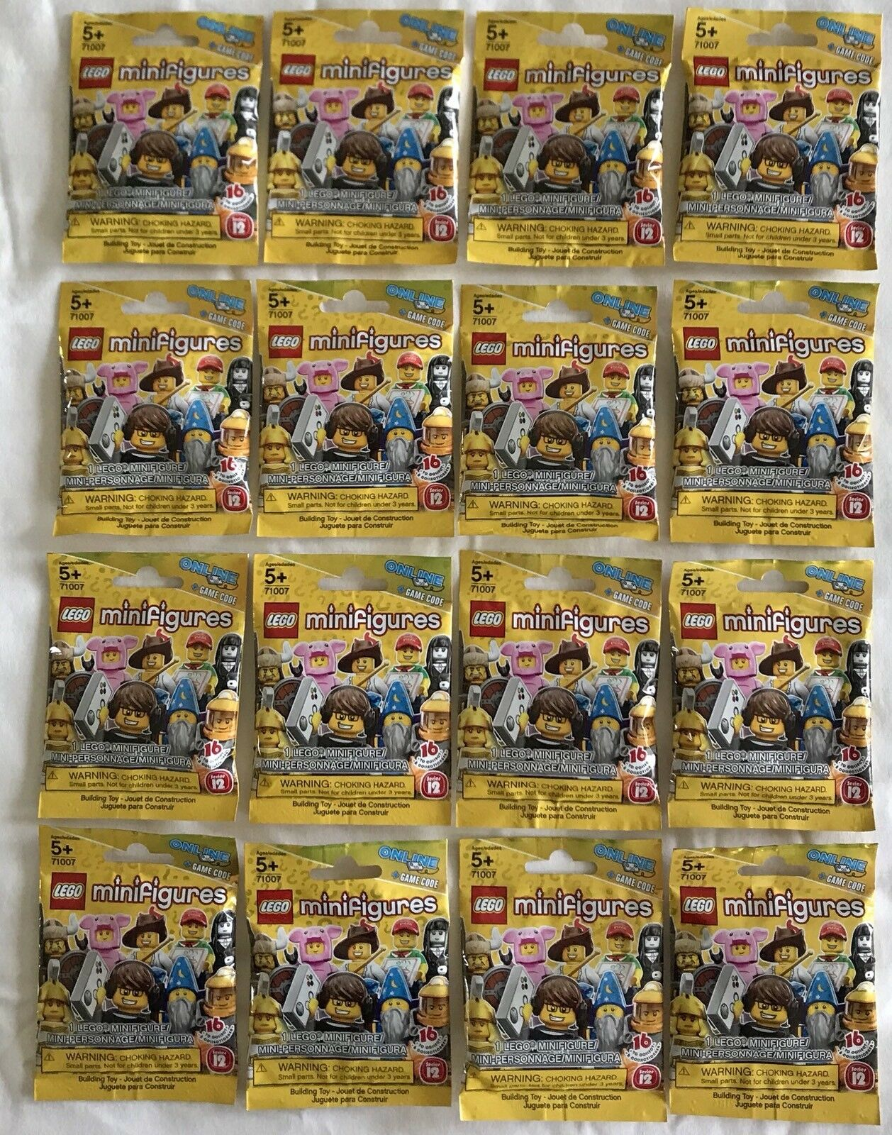 LEGO Minifigures (71007) - Série 12-Jeu complet de 16 figurines-New & Sealed