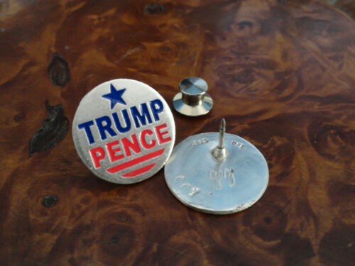 ts3 Trump Pence Political star lapel pin tie tac sterling silver USA