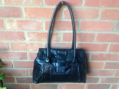 Boden Black Soft Real Leather Handbag