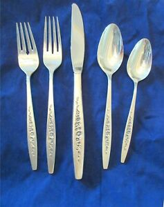 International-Deep-Silver-LAUREL-MIST-5-Pc-Place-Setting-8-Sets-Available-1966