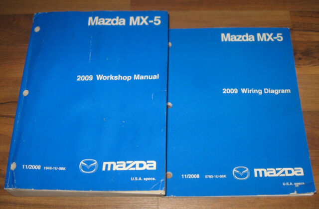 2009 MAZDA MIATA MX-5 Shop Repair Service Manual Set ...