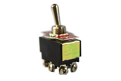 5 Pieces DPDT Toggle Switch Center Off 12 Volt 6 Pin 6 Amp 250v 10 Amp 125v Car