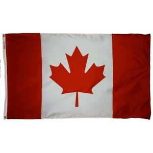 Canada Indoor Outdoor Parade Color Guard Dyed Nylon Flag All Larger Sizes