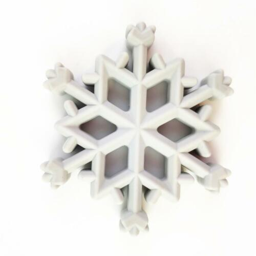 Christmas Snowflakes Food Grade Silicone Teether Baby Teething Jewelry DD