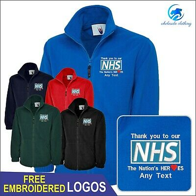 Personalised NHS Heroes Free Embroidered Logo Medical Soldiers Staff Jacket