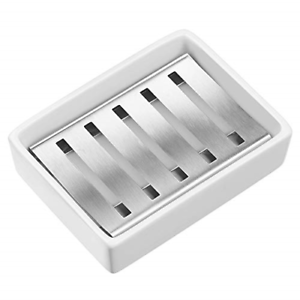 Chrome Square Soap Dish Stainless steel 304 Free Standing Soap Basket For Bath