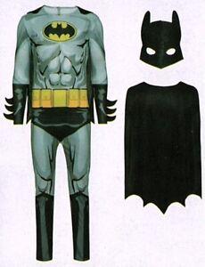 Batman-Kostuem-Fledermaus-grau-Gr-M-48-50-3-tlg-Fasching-Karneval-Verkleidet