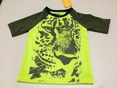 many sizes NWT Gymboree Boy Rash Guard Shirt Top Cheetah UPF 50