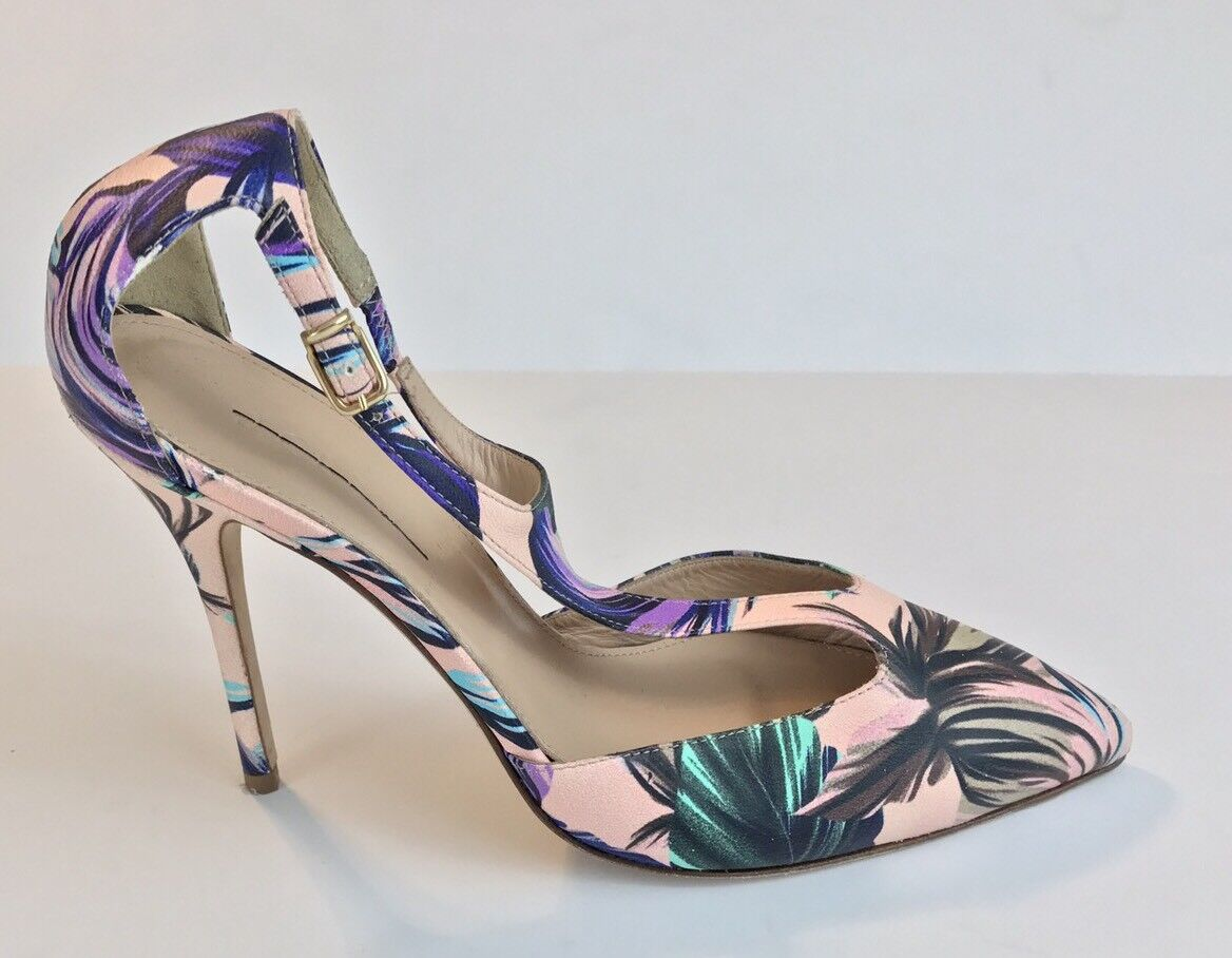 New J.CREW Roxie T-strap pumps in romantic floral print 7
