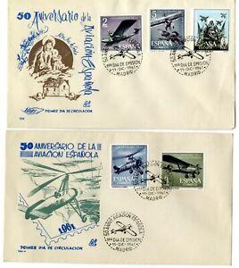2-Sobres-primer-dia-Espana-1961-Aniversario-de-la-Aviacion-Spain-First-day
