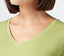 thumbnail 5 - Isaac Mizrahi Live! Essentials Pima Cotton V-Neck Tulip Hem Top Green L A379612