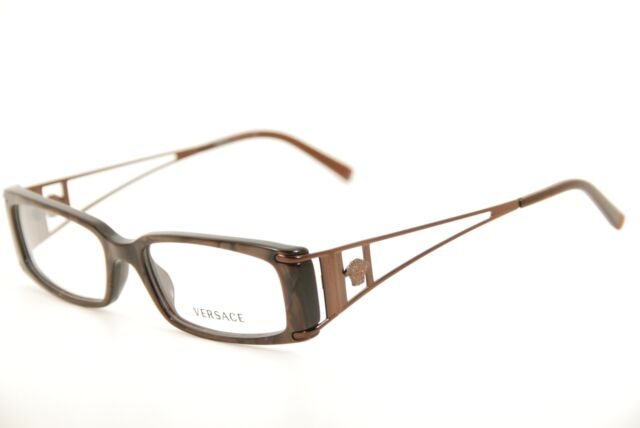 b3ffff345c287 New Authentic Versace 3082 637 Brown Marble 52mm Frames Eyeglasses RX Italy
