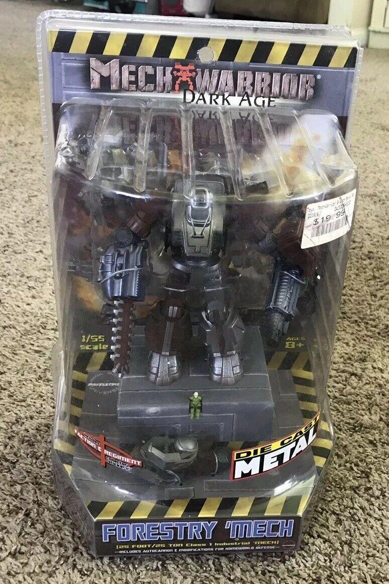 2003 Mechwarrior Dark Age FORESTRY MECH Die Cast Figure 1 55 Scale, WizKids, MIP