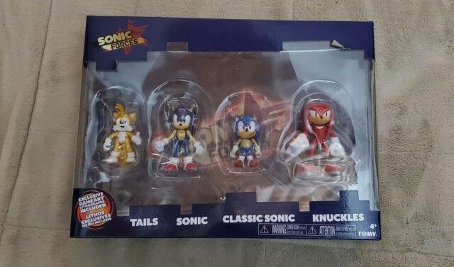 Sonic Forces Hedgehog Action Figure 4 Toy Pack Set Knuckles Tails Tomy Figures For Sale Online Ebay