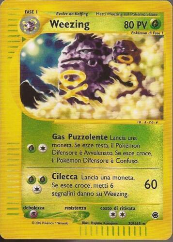Reverse Holo Weezing 70//165 POKEMON Expedition ITA