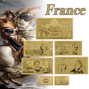 WR-1956s-Banque-de-France-Gold-Banknote-Nouveaux-Francs-Gifts-Set-5PCS