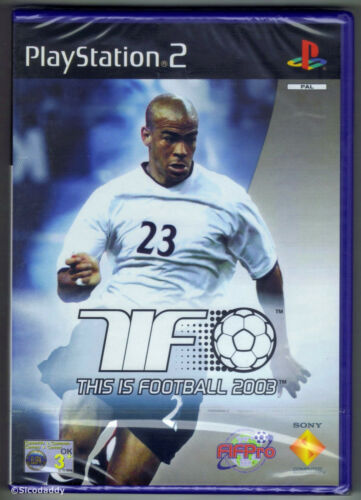 1 of 1 - PS2 This Is Football 2003, UK Pal, Brand New & Sony Factory Sealed