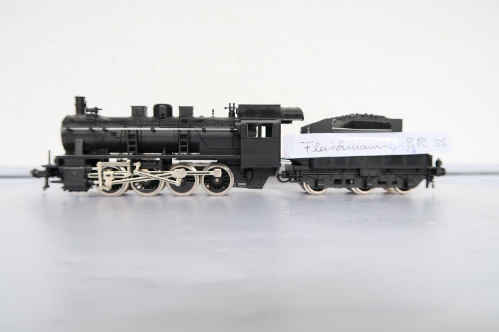 Fleischmann ho dc 4146 vapor Lok br 55 SNCF (cq 49-40r2 15 5)