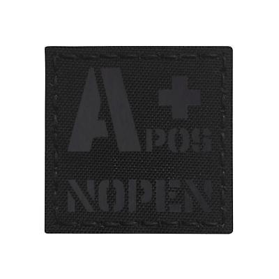 Blackout IR APOS A NOPEN No Penicillin Allergy Blood Type 2x2 Tactical Morale Touch Fastener Patch
