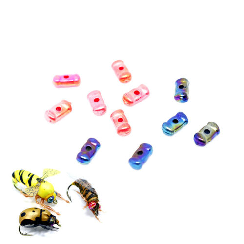 20//40//60pcs Fly Tying Beads Dumbbell Eyes 4.4-6mm Fly Fishing Flies Materials