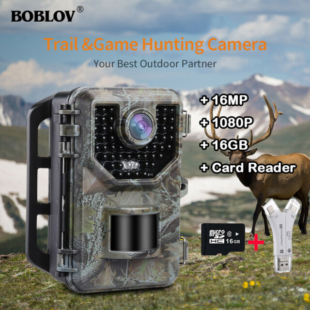16GB 16MP Trail Hunting Camera Waterproof 0.5S Trigger IP66 + 4 in 1 Card Reader